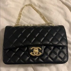 Knock off Chanel black quilted bag